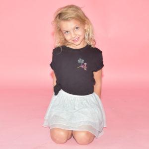 Retro flamingo black Kid